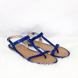 Nine West Sparks Fly Blue Sandals
